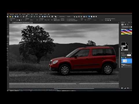 Fotobearbeitung Monochrome Red