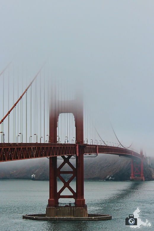 San Francisco - Golden Gate Bridge im Nebel