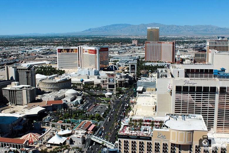 Blick über Las Vegas
