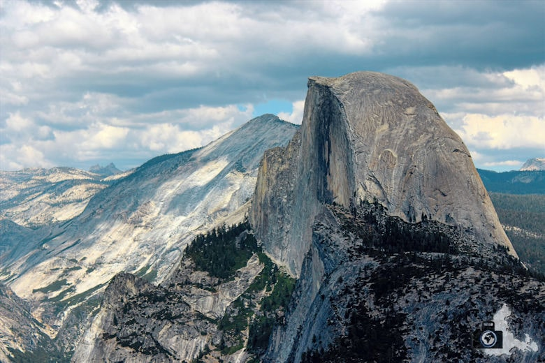 Yosemite Nationalpark - Aussicht vom Glacier Point auf den Half Dome