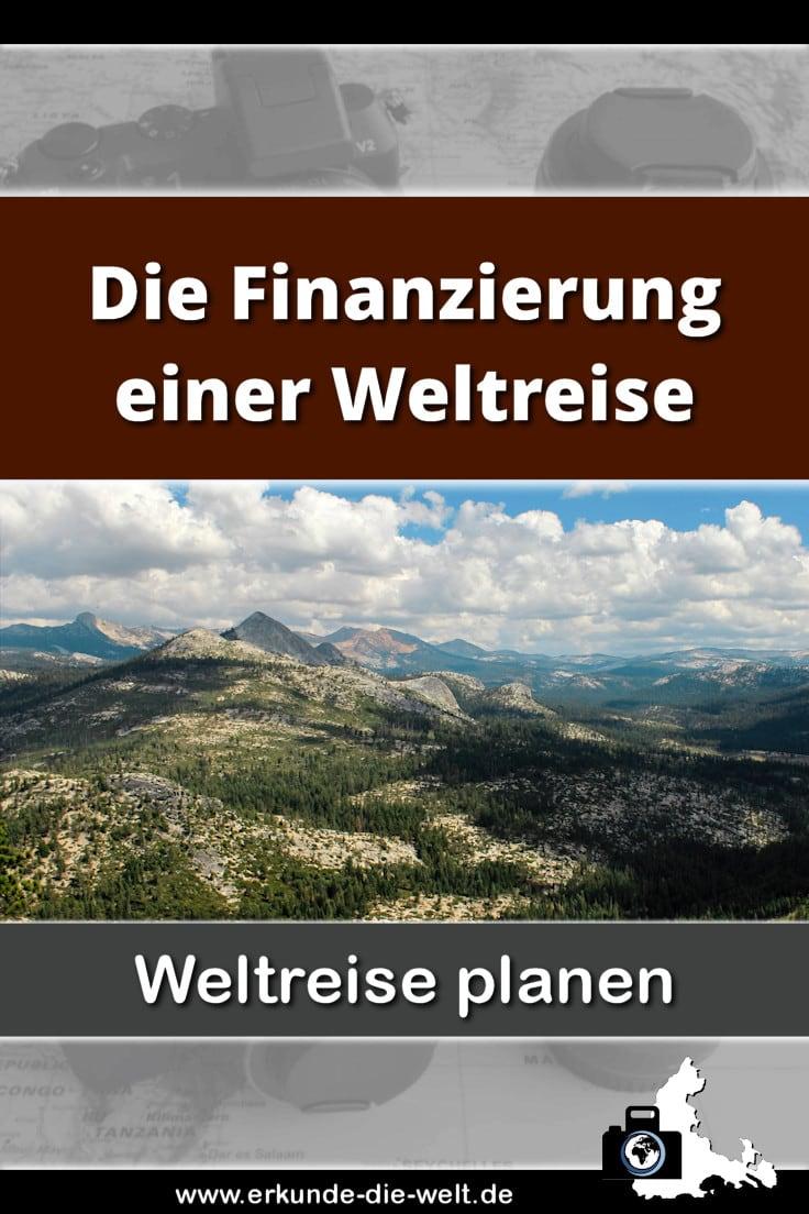 Weltreise planen - Die Finanzierung einer Weltreise