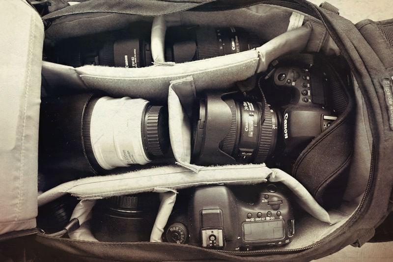 Meine Reiseblogger Fotoausrüstung im Fotorucksack