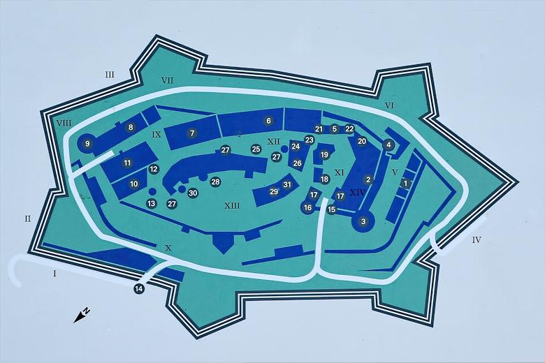 Plan der Hochburg Emmendingen