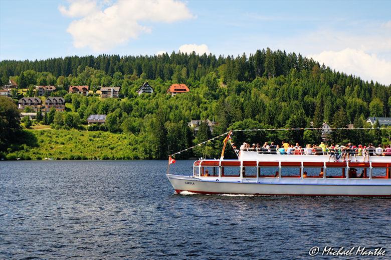 Ausflugsschiff auf dem Titisee im Schwarzwald