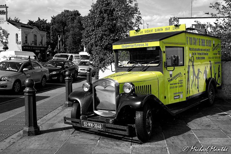 Historisches Fahrzeug in Dublin