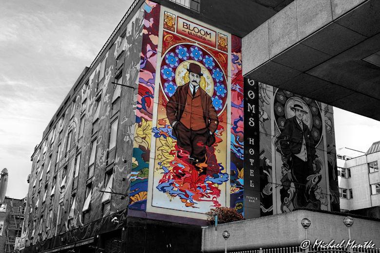 Bemalte Häuserfassade in Dublin