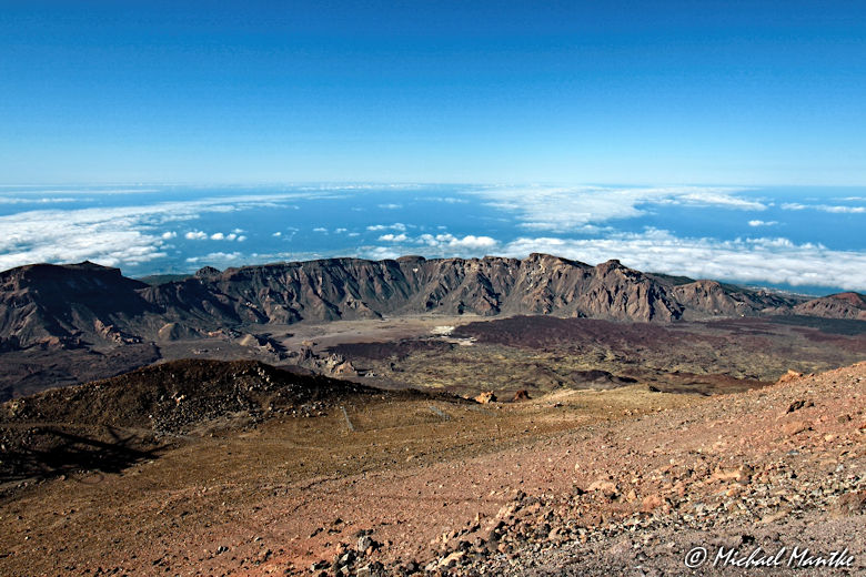 Weitwinkel Aufnahme: Blick vom Pico del Teide, Teneriffa