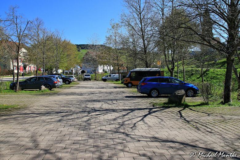 Parkplatz vor Kloster St. Peter