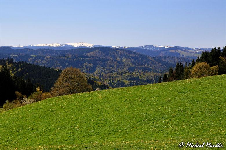 Hochschwarzwald Landschaft mit Blick auf Feldberg