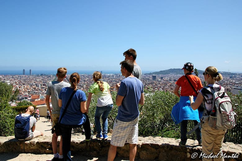 Barcelona Park Güell Aussichtspunkt