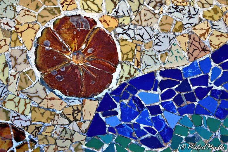 Barcelona Park Güell Mosaik