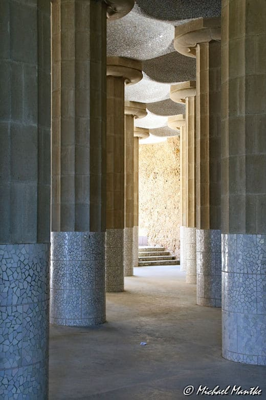Barcelona Park Güell Säulen