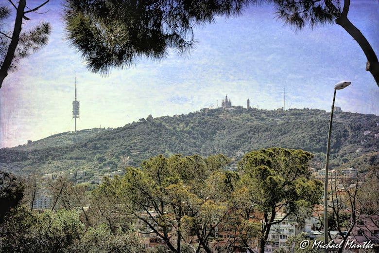 Barcelona Blick auf Tibidabo
