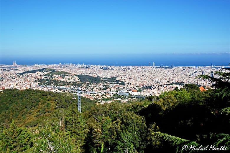 Barcelona Panorama Aussicht von Tibidabo
