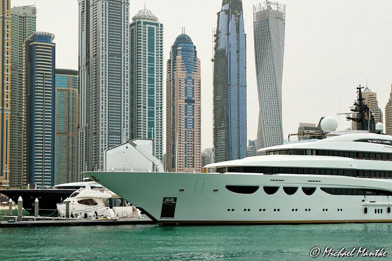 Dubai Marina Yacht Skyline