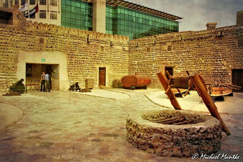 Dubai Museum Al Fahidi Fort Innenhof