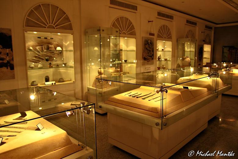 Dubai Museum Ausstellung Schaukästen