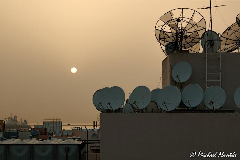abendsonne über den dächern von dubai