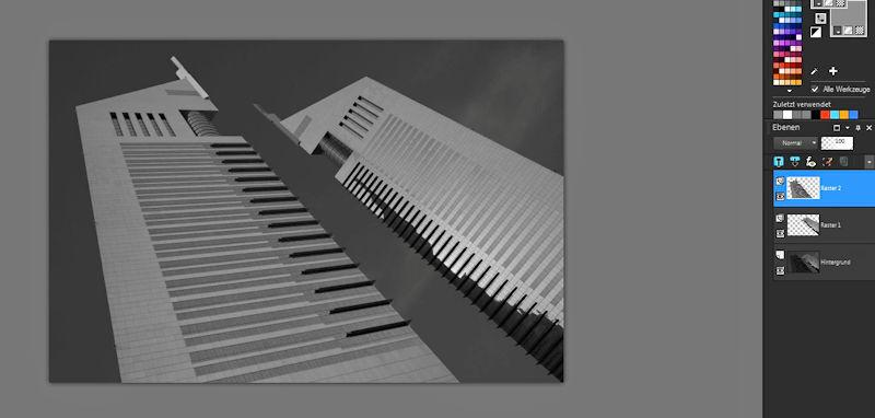 Fotobearbeitung SW Architekturfotografie