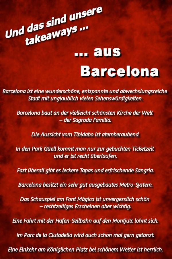 Takeaways Barcelona