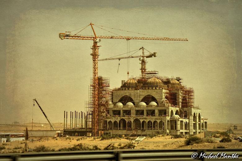 Fujairah Baustelle in der Wüste