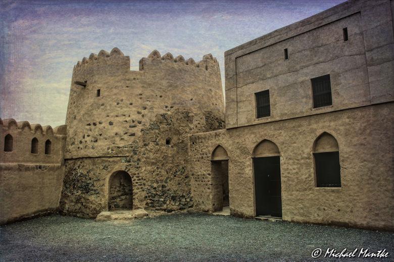 Fujairah Fort Heritage Village Innenhof