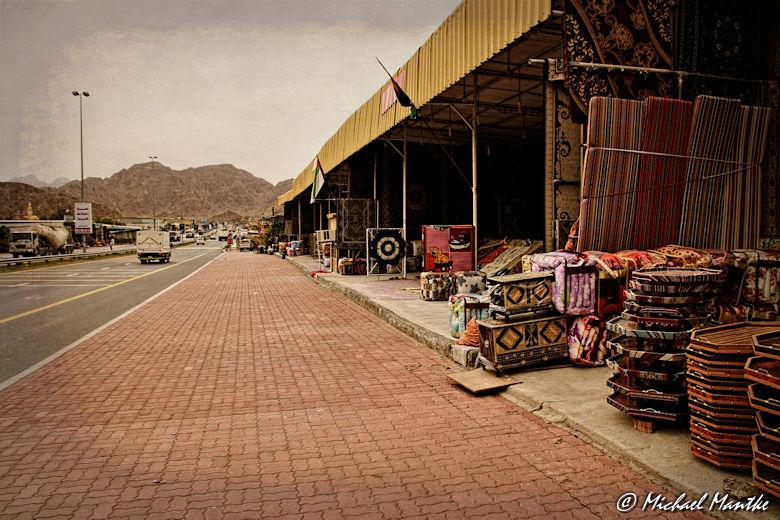 Fujairah Teppich Händler Straßenverkauf