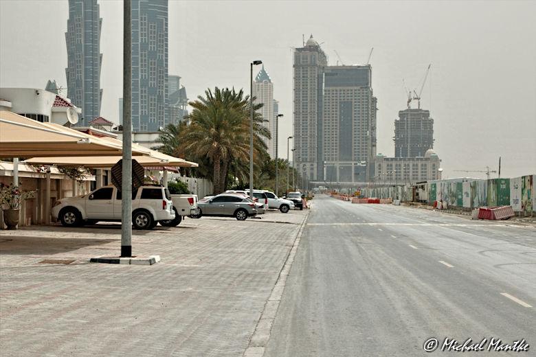 Strasse in Wohngegend von Dubai