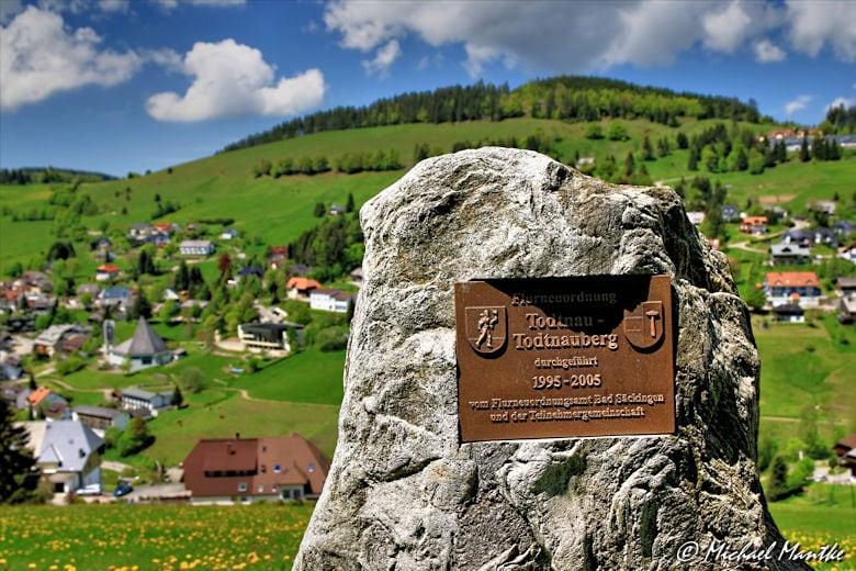 Martin Heidegger Rundwanderweg bei Todtnauberg - Flurstein