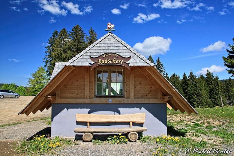 Martin Heidegger Rundwanderweg bei Todtnauberg - Hütte am Radschert