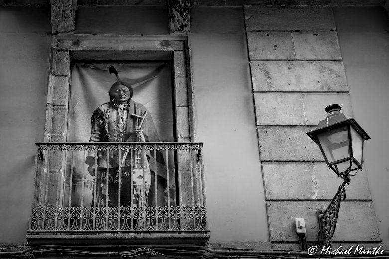 Barcelona - Indianer Gotisches Viertel