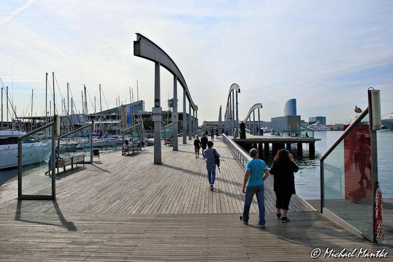 Barcelona Hafen Rambles del Mar