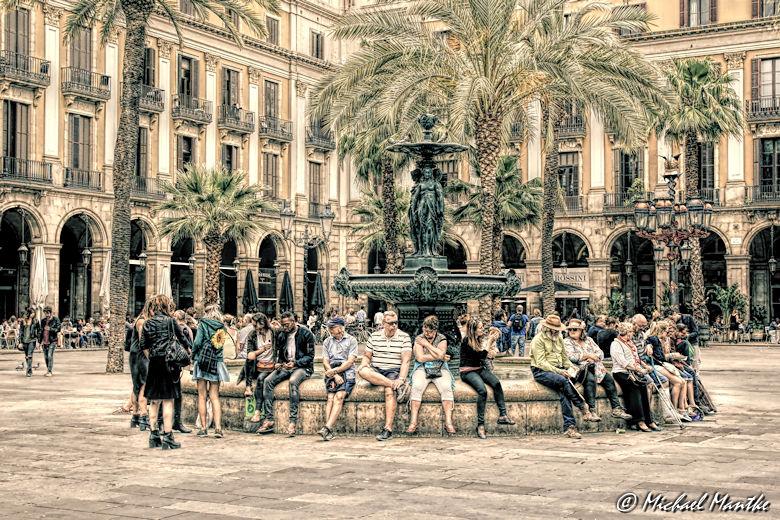 Barcelona Königlicher Platz