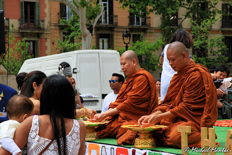 Barcelona Mönche bei Segnung