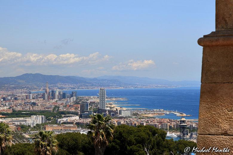 Barcelona Blick aus der Teleferic de Montjuic