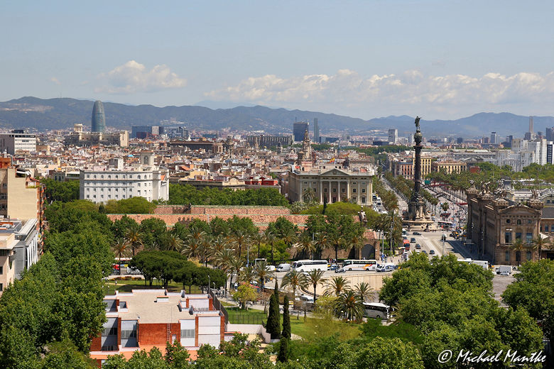 Barcelona Blick vom Montjuic