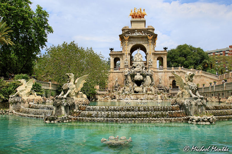 Barcelona Parc de la Ciutadella Drachenbrunnen