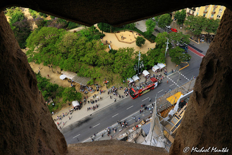 Sagrada Familia Turmblick auf Barcelona