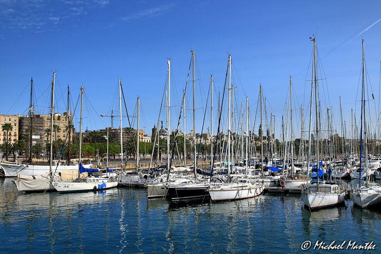 Barcelona Hafen Boote