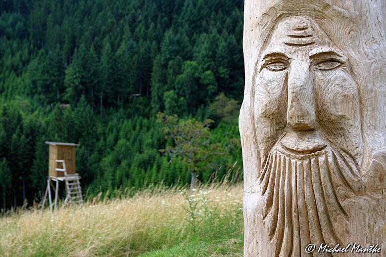 Hahn-und-Henne-Runde Höllhaken Skulptur