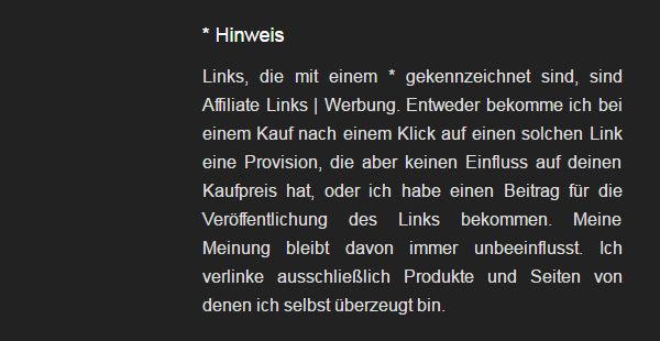 Kennzeichnung von Text Links auf einem Blog