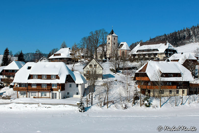 Sehenswürdigkeit Schwarzwald Breitnau im Winter