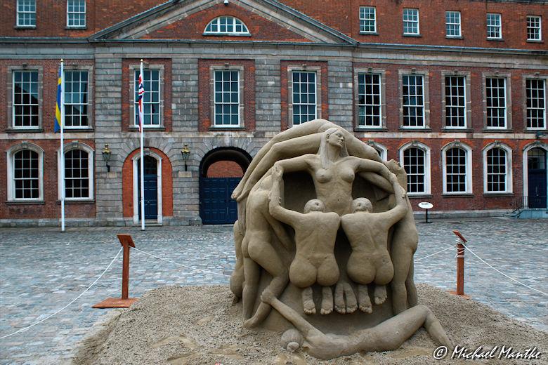 Sightseeing Dublin Tipps Kunst aus Sand
