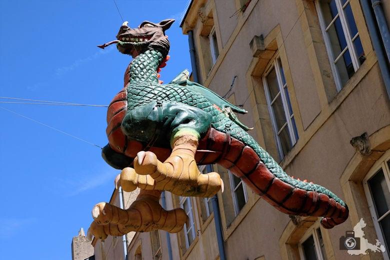 Frankreich Metz Drachenfigur
