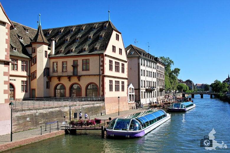 Frankreich Straßburg Ausflugsboote