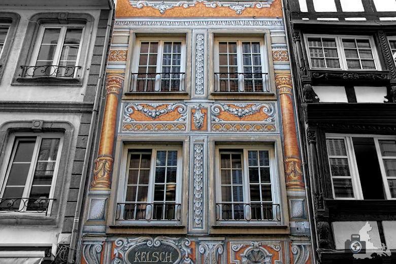 Frankreich Straßburg Häuserfassade