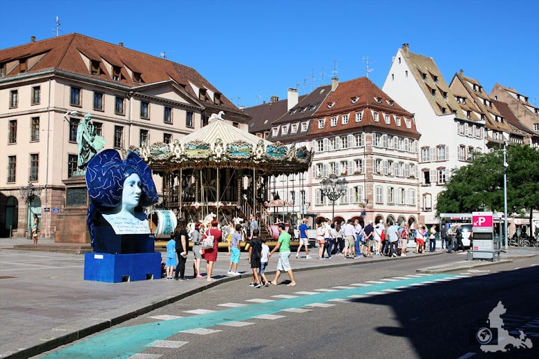 Frankreich Straßburg Karussell