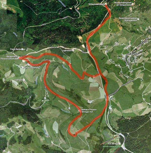 Wanderweg auf dem Schauinsland zum Gießhübel und zum Zähringer Hof