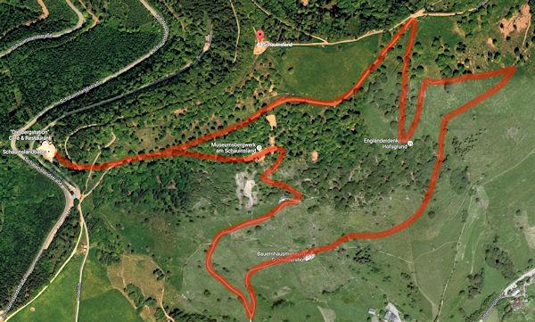 Wanderweg auf dem Schauinsland zum Schniederlihof
