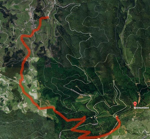 Wanderung vom Schauinsland über den Eckhof nach Horben zur Talstation
